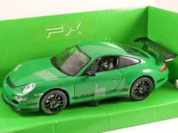 porsche 911 gt3 rs green porsche 911 gt3 rs 997 in green 1 24 scale model by welly