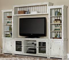 progressive furniture willow distressed finish wall unit with 68