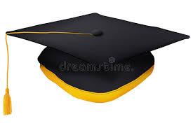 gold tassel graduation black graduation cap with gold tassel stock vector illustration
