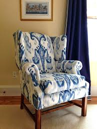Blue Wingback Chair Design Ideas Chairs Fabric Wing Chairs Design For Modern Chair Ideas High