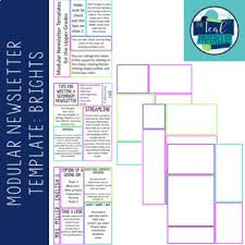 newsletter template modular format by the teal paperclip tpt