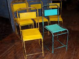 vintage industrial metal chairs hudson goods blog