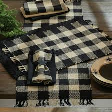 farmhouse country kitchen wicklow black table runner 54