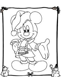 mickey mouse christmas coloring page aecost net aecost net