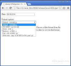format date javascript jquery jquery ui datepicker format date in javascript