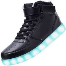 light up shoes gold high top kids led light up sneakers shoes usb charger high top boy