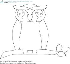 incredible remarkable printable owl pattern online free get it and