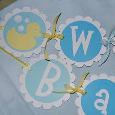 baby shower banner boy or rubber ducky theme
