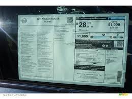 nissan rogue fuel economy 2016 nissan rogue sl window sticker photos gtcarlot com