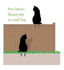 black metal cat garden lawn ornament yard