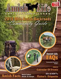 Ohio Amish Country Map by 2016 Ohio Amish Backroads Amish Life Magazine By Global Media