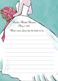 Advice Cards For Bride Bridal Shower Advice Cards