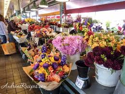 seattle flowers an afternoon in seattle pike place market andrea meyers