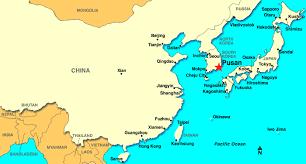 pusan on map cruise port pusan south korea
