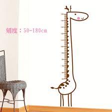 chambre la girafe girafe hauteur autocollants animaux stickers muraux chambre de bébé