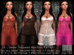 transparent dresses second marketplace c e summer transparent mesh dresses