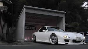 stanced rx7 back to garage mazda rx 7 fd3s youtube