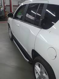 white jeep compass black rims jeep compass aluminum side steps running boards bars 2011 2014 no