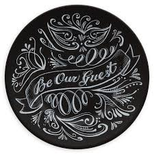 guest plate be our guest dessert plate black shopdisney