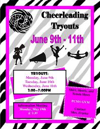 cheerleading tryouts flyer template classy carolina lady