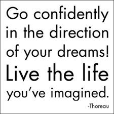 quotable cards go confidently in the direction of your dreams thoreau