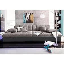 canapé grande assise canapé xl ou microfibre et tissu aspect tweed noir autres