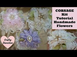 Shabby Chic Projects by Wrist Corsage Pink Lavender Cream Shabby Chic Crafts Lace