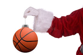 santa claus with basketball ornament stock images image 3461354