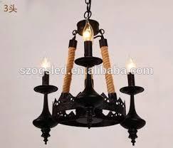 Candle Pendant Light Italian Iron Pendant Light Hemp Rope Candle Pendant Light