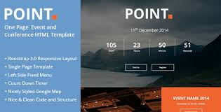 point one page event and conference template by theweblab