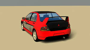 mitsubishi interior 3d model mitsubishi lancer evo8 no interior cgtrader