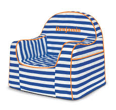Personalized Kid Chair P U0027kolino Little Reader Stripes Personalized Kids Foam Chair With
