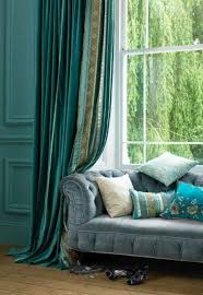 Curtains With Turquoise Pairing The Turquoise Curtains To Bring Up The Room S Color Home