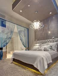 Modern Bedroom Lighting Fascinating Image Of Bedroom Decoration Using Modern White Glass
