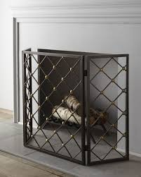 button fireplace screen neiman