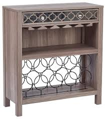 console table with wine storage osp designs helena wine storage console table greco oak