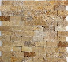 gold travertine split face mosaic from sefa stone perfect for