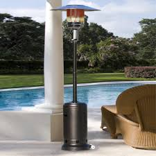 Stainless Steel Patio Heaters by Decoration Ideas Captivating Blue Metal Cone Shade In Black Metal