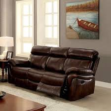 Leather Reclining Sofa And Loveseat Furniture Of America Modern Reclining Sofa Loveseat Recliner Top