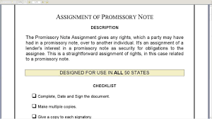 assignment of promissory note youtube