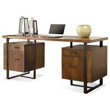 Double Pedestal Desk With Hutch by Desk Antique Oak Double Pedestal Desk Am 392n Amber Double