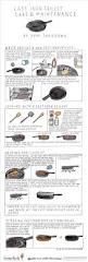 Cooking Infographic by Cast Iron Skillets How To Cook And Maintenance Infographic