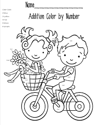 math coloring pages addition worksheet pedagogia pinterest
