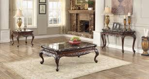 homelegance mariacarla coffee table set dark cherry 3526