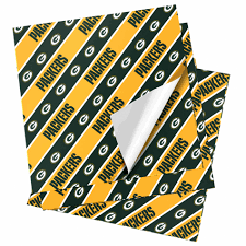 cheapest place to buy wrapping paper nfl folded gift wrapping paper green bay packers