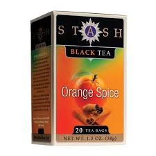 stash tea orange spice black tea 20 count tea bags in foil