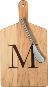 monogram cheese board j k monogram cheese board spreader set l mcb 1106 l
