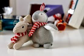 Knitted Reindeer Christmas Decorations by Christmas Decoration Dolls Hand Knitted Toys Photo Images Pixhome