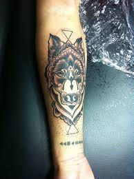 wolves tattoos and and forearm tattoos on