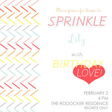 photo baby sprinkle invitations for image